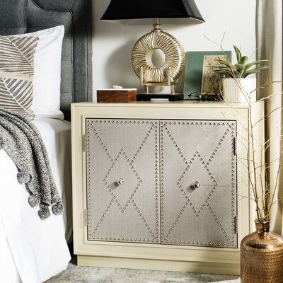 Marcel 2 Door Accent Chest Color: Antique Beige