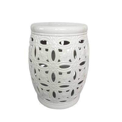 Filmore Ceramic Pierced Garden Stool Color: White