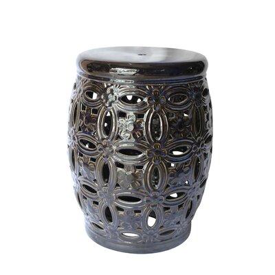 Filmore Ceramic Pierced Garden Stool Color: Blue