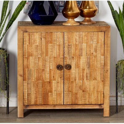 Chromite Rustic Textured 2 Door Accent Cabinet