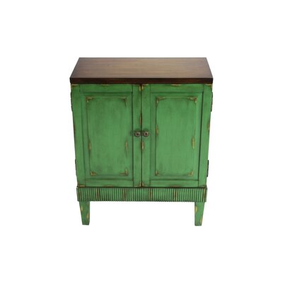 Basey 2 Door Accent Cabinet Color: Distressed Green