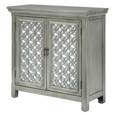 Wiesner 2 Door Accent Cabinet Color: Silver