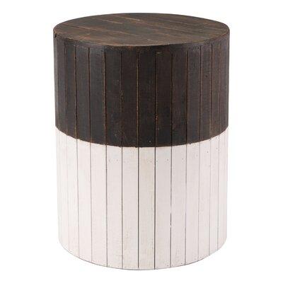 Abbottstown Wooden Round Accent Stool