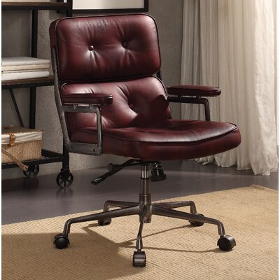 Demarcus Genuine Leather Office Chair