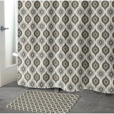 "Underhill Rectangle Memory Foam Bath Rug Size: 17"" W x 24"" L, Color: Grey/ Ivory"