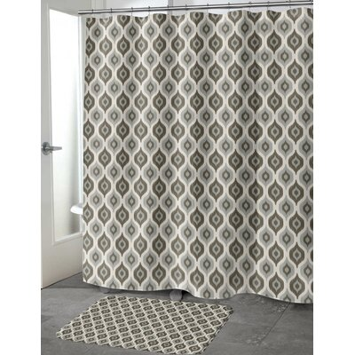 """Underhill Cotton Blend Shower Curtain Color: Gray/ Ivory, Size: 72"""" H x 70"""" W"""