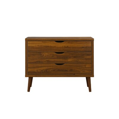 Walburg 3 Drawer Accent Chest Color: Brown
