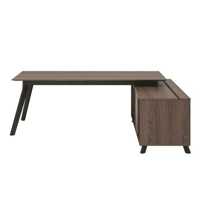 Gleason 2 Piece L-Shape Desk Office Suite