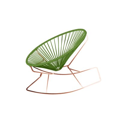 Friar Rocking Chair Color: Cactus/Copper
