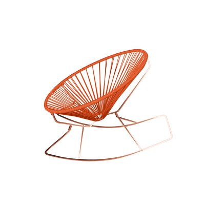 Friar Rocking Chair Color: Orange/Copper