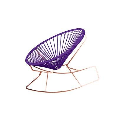 Friar Rocking Chair Color: Purple/Copper