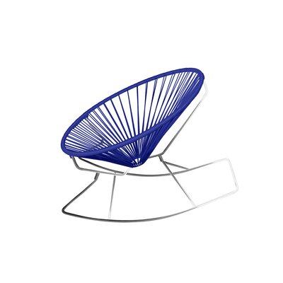 Friar Rocking Chair Color: Deep Blue/Chrome