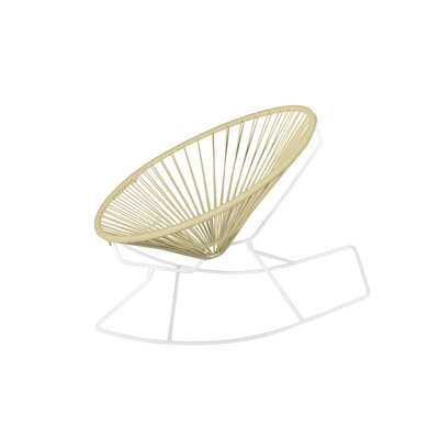 Friar Rocking Chair Color: Ivory/White