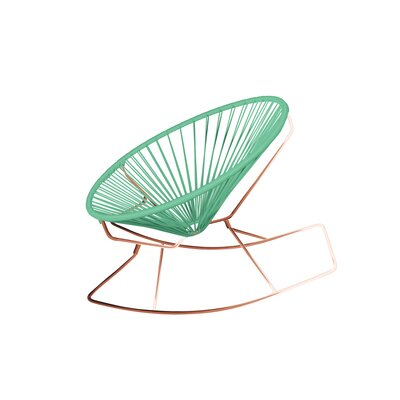 Friar Rocking Chair Color: Mint/Copper