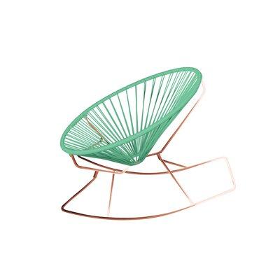 Friar Rocking Chair Color: Mint/Copper