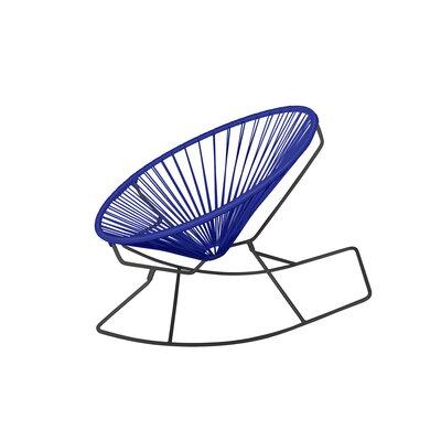 Friar Rocking Chair Color: Deep Blue/Black