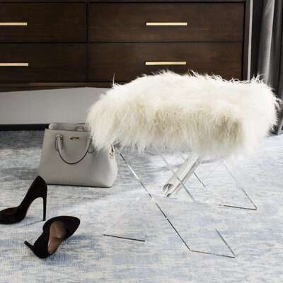 Kaster Sheepskin Accent Stool