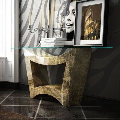 "Fernwood Console Table Size: 29.5"" H x 39.4"" W x 15.6"" D, Color: High Gloss"