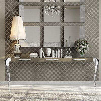 """Fernwood Console Table Size: 29.5"""" H x 118"""" W x 15.6"""" D, Color: High Gloss"""