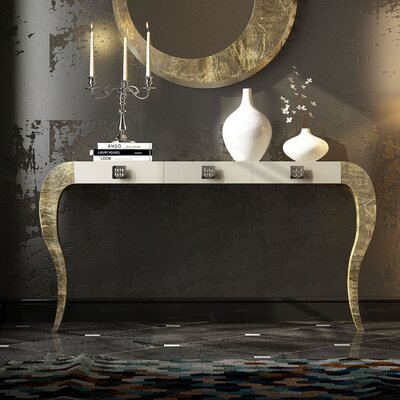 """Fernwood Console Table Size: 29.5"""" H x 39.4"""" W x 15.6"""" D, Color: High Gloss"""