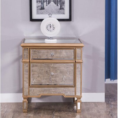 Orpha 1 Door Chest Color: Gold