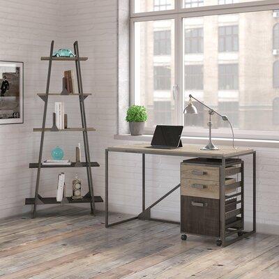 Riverside Industrial 3 Piece Rectangular Desk Office Suite