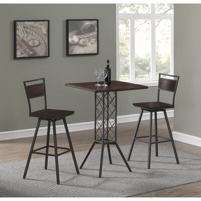 Kimiko 3 Piece Counter Height Dining Set
