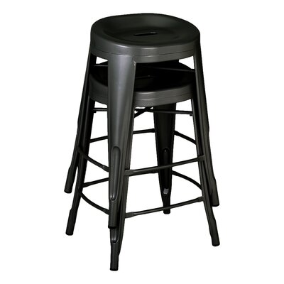"Benji 24"" Bar Stool Color: Black"