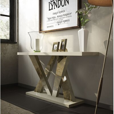 "Pelley Console Table Size: 29.5"" H x 39.4"" W x 15.6"" D, Color: High Gloss"