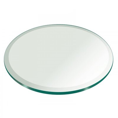 "Jayanth Round Tempered Glass Table Top Size: 58"" L x 58"" W"