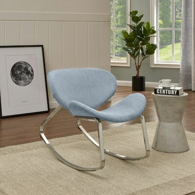 Northridge Rocking Chair Fabric: Blue Textured Strie