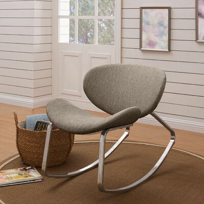 Northridge Rocking Chair Fabric: Gray Textured Weave