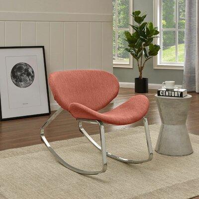 Northridge Rocking Chair Fabric: Red Textured Strie