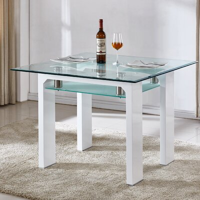 Dove Dining Table Color: White