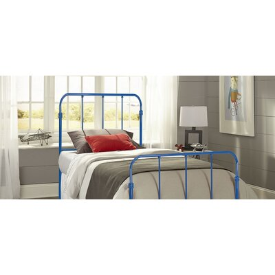 Collin Kids Bed with Metal Duo Panels Color: Cobalt Blue, Size: Twin