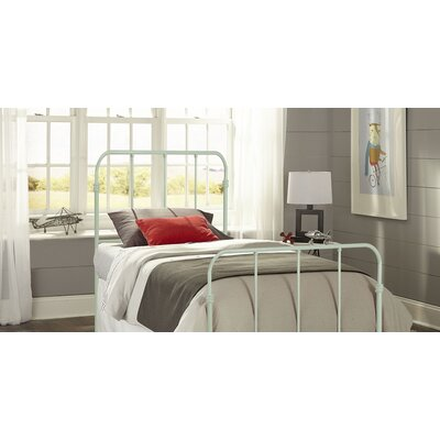 Collin Kids Bed with Metal Duo Panels Color: Mint Green, Size: Twin