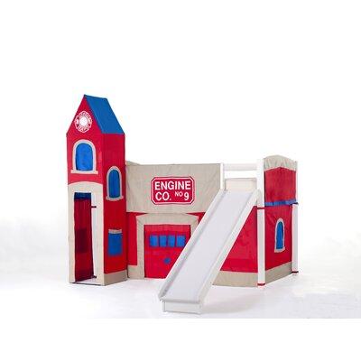 Lyric Firehouse Loft with Slide Color: White