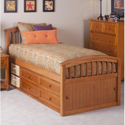 Lyric Captain's Bed Size: Full, Color: Pecan