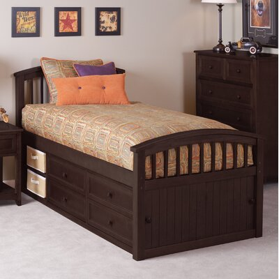 Lyric Captain's Bed Size: Full, Color: Chocolate