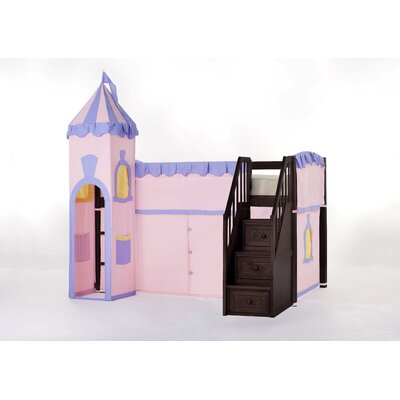 Lyric Princess Loft with Stairs Color: Chocolate