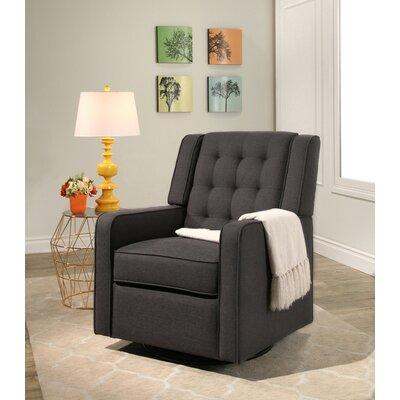 Cranford Swivel Glider Upholstery: Charcoal Gray