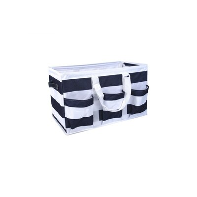 3 Tier Wire Storage Rack with Utility Tote Color: Black