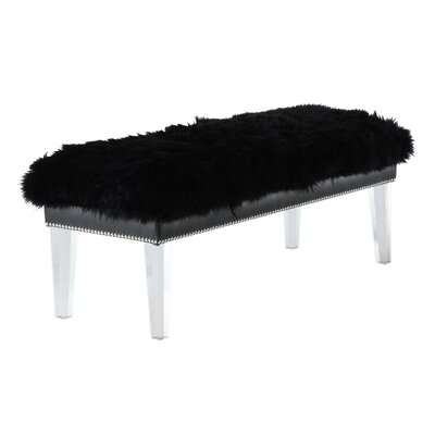 Ottavia Upholstered Bench Color: Black