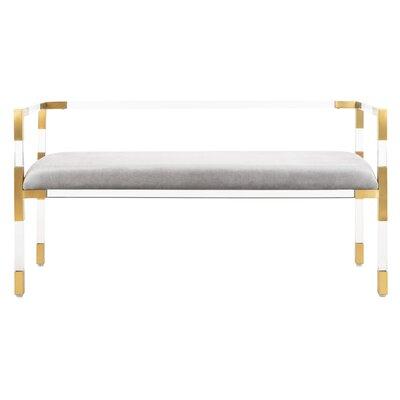 Blanchard Upholstered Bench Color: Grey