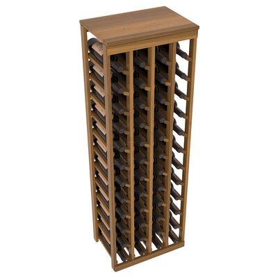 Karnes Redwood Table Top 48 Bottle Floor Wine Rack Finish: Oak Satin