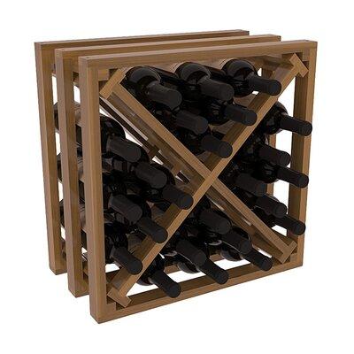 Karnes Redwood Lattice X-Cube 24 Bottle Tabletop Wine Rack Finish: Oak Satin