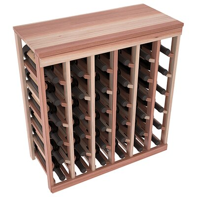 Karnes Redwood Table Top 36 Bottle Floor Wine Rack Finish: Natural Satin