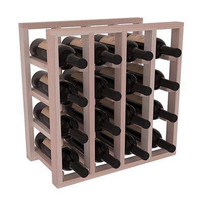 Karnes Redwood Lattice 16 Bottle Tabletop Wine Rack Finish: Gray