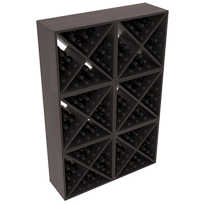 Karnes Redwood X-Cube 144 Bottle Floor Wine Rack Finish: Black Satin