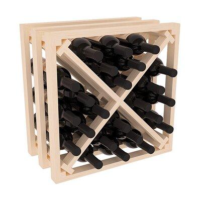 Karnes Pine Lattice X-Cube 24 Bottle Tabletop Wine Rack Finish: Natural
